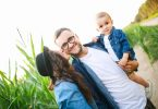 happy family celebrates fathers day
