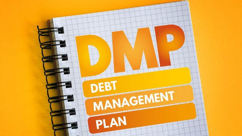 DMP - Debt Management Plan acronym, business concept