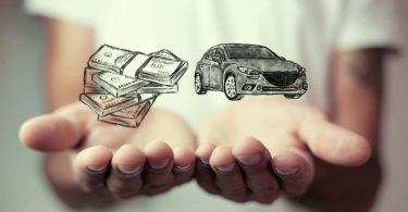 Money and business concept car