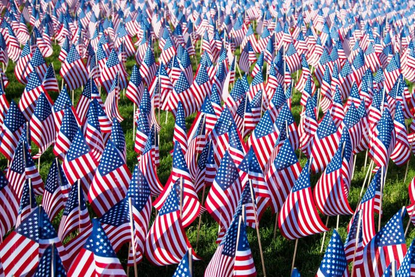 American Flags, Presidents Day